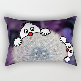 Fly with the dandelion Rectangular Pillow