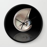 shells Wall Clocks featuring shells by mark ashkenazi