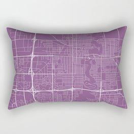 Fargo Map, USA - Purple Rectangular Pillow
