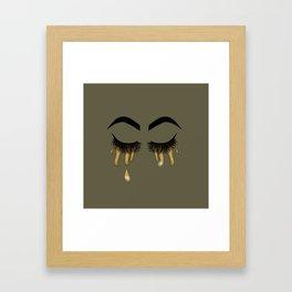 I cry gold Framed Art Print
