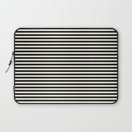Thin alternating gold black and white art deco stripes Laptop Sleeve