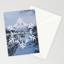 Wherever you go, go with all your heart. Stationery Cards