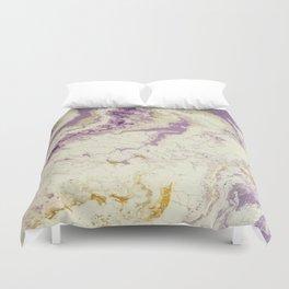 Purple Marble Duvet Cover