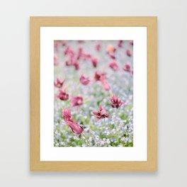 Field of Purple Flowers Framed Art Print