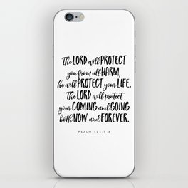 Psalm 121:7-8 - Bible Verse iPhone Skin