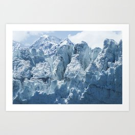 Close-up of a distinctive ice formation on the face of the Margerie Glacier Art Print