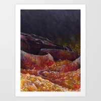 smaug Art Prints featuring Smaug  by Chiara Martinelli Creations