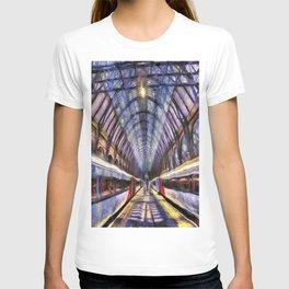 Kings Cross Rail Station van gogh T-shirt