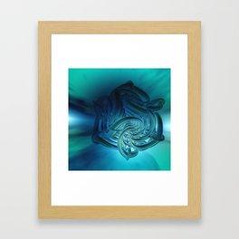 fractal decor meets sky -2- Framed Art Print