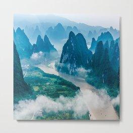 Li River in Guilin China 2 Metal Print