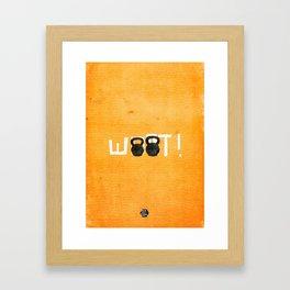 Woot!  Framed Art Print