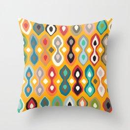 brocade saffron Throw Pillow