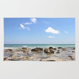 Sunny day on the Rocky Shore Rug