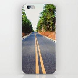 Empty road iPhone Skin