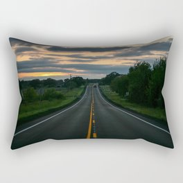 Just standin' in the middle of a country road and watchin' the sun set... Rectangular Pillow