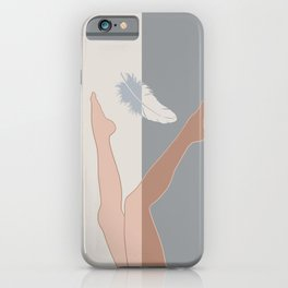 Falling Angel-Legs-Feather iPhone Case