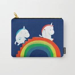 Unicorn on rainbow slide Carry-All Pouch