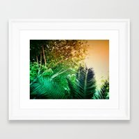 palms Framed Art Prints featuring PALMS by Teresa Madruga