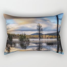 It Does Exist a beautiful dreamy photograph of Dry Lake Rectangular Pillow