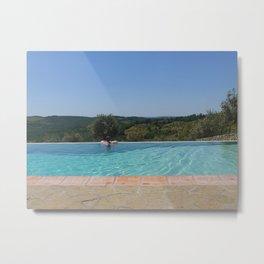 Fattoria Di Rignana Pool Metal Print