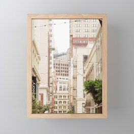 San Francisco Daydreaming in Union Square Framed Mini Art Print