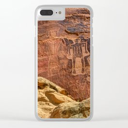 Three Kings Petroglyph - Mcconkie Ranch - Utah Clear iPhone Case