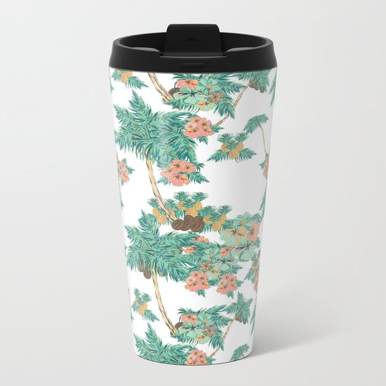 Tropical Kitch Metal Travel Mug