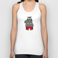 hippo Tank Tops featuring Hippo by lescapricesdefilles