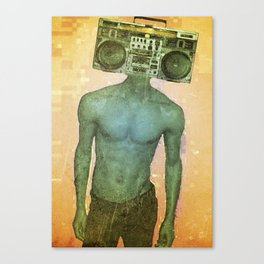 _radiohead: summer beach tyme. Canvas Print