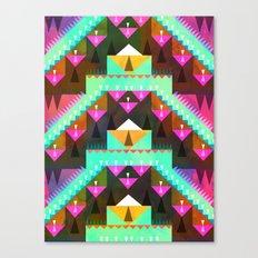 Aztec Mountain Canvas Print