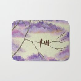 A Mothers Blessings, Birds in Tree Bath Mat