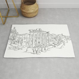 Ancient Rome roman forum Rug