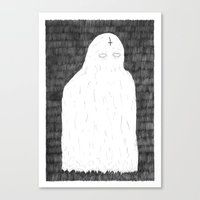 ghost Canvas Prints featuring Ghost by David Penela