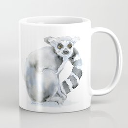 Ring-tailed Lemur Watercolor Coffee Mug