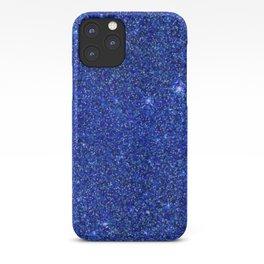 dark blue glitter iPhone Case