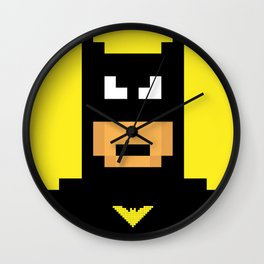 The Caped Crusader - Super Heroes in Pixel Wall Clock
