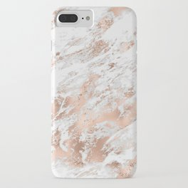 Beautiful Rose Gold Marble Pattern iPhone Case