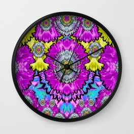 fantasy bloom in Spring time lively colors Wall Clock