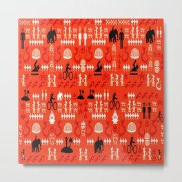 traditional wayang Metal Print