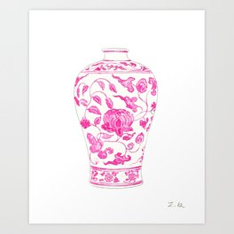 Pink Ginger Jar 4 Art Print