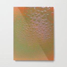 Yellow Drops Metal Print
