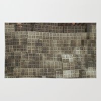 metropolis Area & Throw Rugs featuring Metropolis by waggytailspetportraits