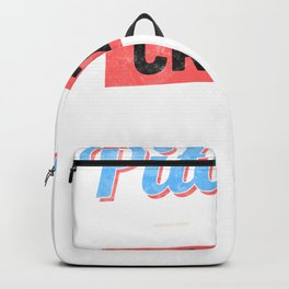 Pitches Be Crazy Funny Baseball Lover Shirt Backpack