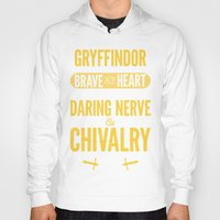 gryffindor Hoodies featuring Gryffindor by Dorothy Leigh