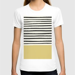 Daffodil Yellow x Stripes T-shirt