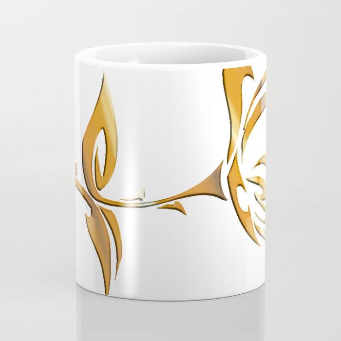 Golden tribal flower Coffee Mug