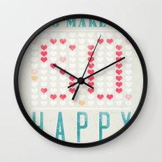 YOU MAKE ME SO HAPPY Wall Clock