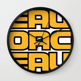 Geaux Wall Clock