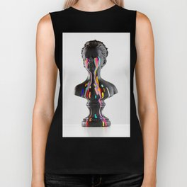 The Girl With Stars In Her Eyes (On White) Biker Tank