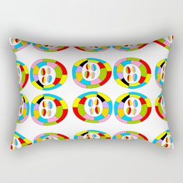 Multicolor circles II-abstraction,abstract,geometric,geometrical,pattern,circle,sphere Rectangular Pillow